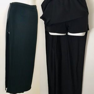 Maxi Skirt With Side SLITS and ATTACHED SHORTS S